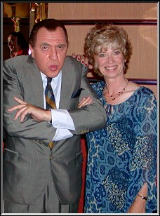 Jerry Hoban as Ed Sullivan and Toni McLaughlin  ...Photo by Dennis McLaughlin