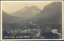 Banff Village and Boat Mtn. 51(aR).
