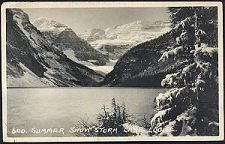600. Summer Snow Storm. Lake Louise.