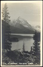 (J)610. Mt Sanson. Maligne Lake.